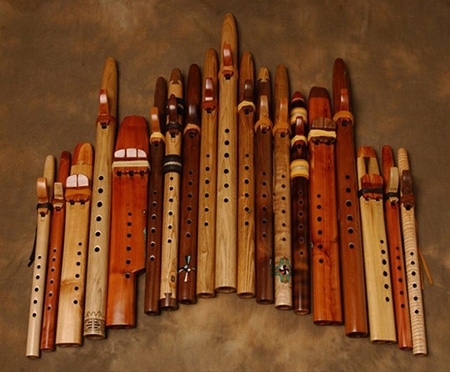 Lots of Wood Flutes.